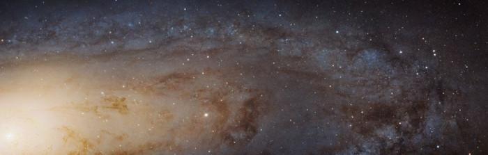 Galaxie d'Andromède, images télescope Hubble
