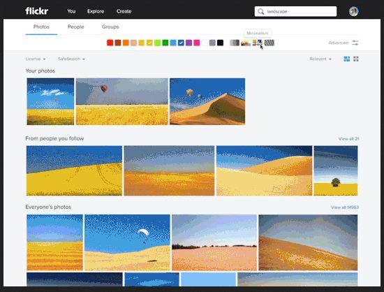 Flickr recherche fichiers